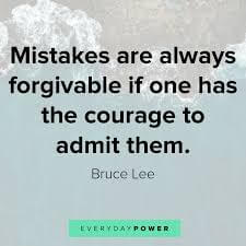 Bruce Lee Quote About Mistakes