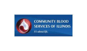 Laura Schreiber Female Voice Over Talent Community Blood Services Of Illinois Logo