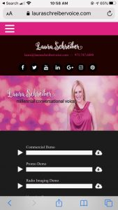 Screenshot of www.lauraschreibervoice.com