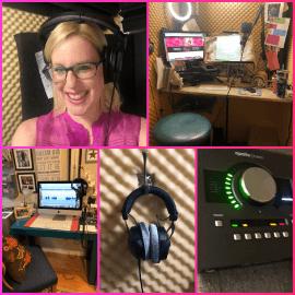 Laura Schreiber Female Voice Over Talent Studio Booth Img