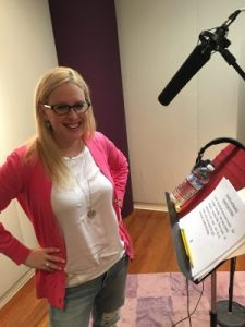 Laura Schreiber recording at Atlantis Studio