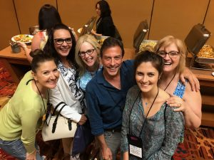 Laura Schreiber at WoVo Con in Las Vegas with Industry Friends