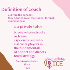 Definition of coach