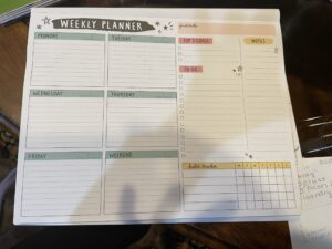 Weekly Planner Sample
