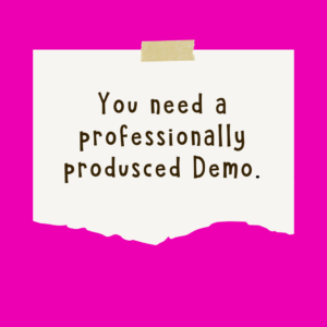 Voice Actors Need a Pro Demo