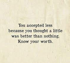 Accepting Less