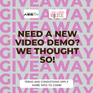 Video Demo Giveaway
