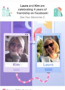 Laura Schreiber and Kim Handysides on Facebook