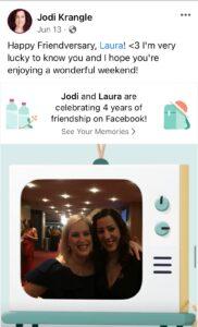 Laura Schreiber and Jodi Krangle Friendiversary