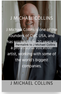 J. Michael Collins and One Voice