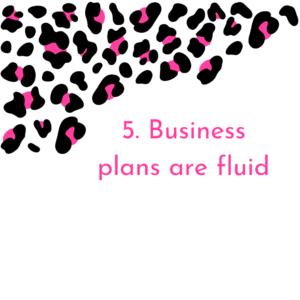 Business Plans are fluid